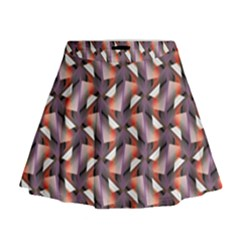 Pattern Abstract Fabric Wallpaper Mini Flare Skirt
