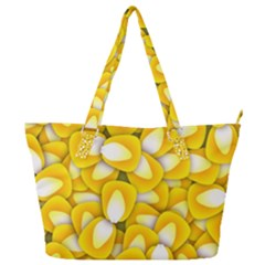 Pattern Background Corn Kernels Full Print Shoulder Bag