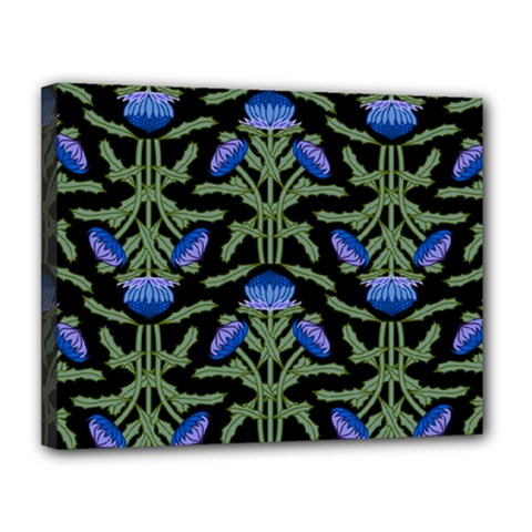 Pattern Thistle Structure Texture Canvas 14  X 11  (stretched)