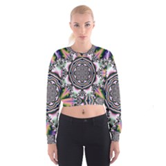 Pattern Abstract Background Art Cropped Sweatshirt