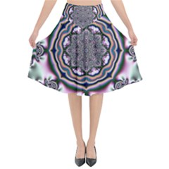 Pattern Abstract Background Art Flared Midi Skirt