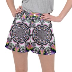 Pattern Abstract Background Art Stretch Ripstop Shorts