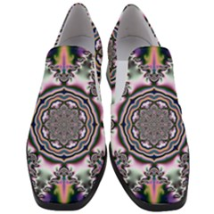 Pattern Abstract Background Art Slip On Heel Loafers