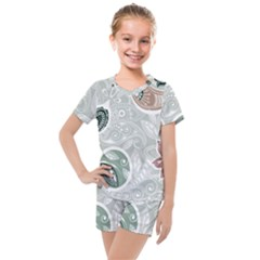 Peisles Pattern Module Design Kids  Mesh Tee And Shorts Set