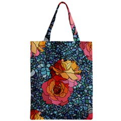 Pattern Rose Yellow Background Zipper Classic Tote Bag