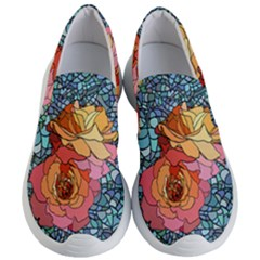 Pattern Rose Yellow Background Women s Lightweight Slip Ons