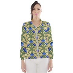 Pattern Thistle Structure Texture Windbreaker (women)