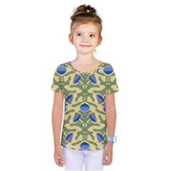 Pattern Thistle Structure Texture Kids  One Piece Tee