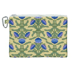 Pattern Thistle Structure Texture Canvas Cosmetic Bag (xl)