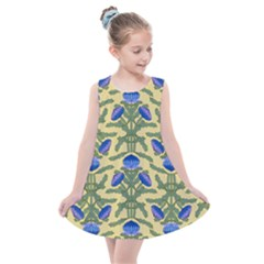 Pattern Thistle Structure Texture Kids  Summer Dress