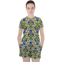 Pattern Thistle Structure Texture Women s Tee And Shorts Set