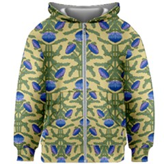 Pattern Thistle Structure Texture Kids  Zipper Hoodie Without Drawstring
