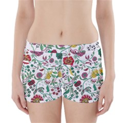 Flowers Garden Tropical Plant Boyleg Bikini Wrap Bottoms