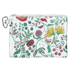 Flowers Garden Tropical Plant Canvas Cosmetic Bag (xl) by Pakrebo