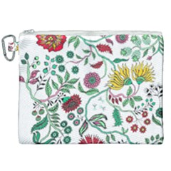 Flowers Garden Tropical Plant Canvas Cosmetic Bag (xxl) by Pakrebo