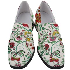 Flowers Garden Tropical Plant Women s Chunky Heel Loafers
