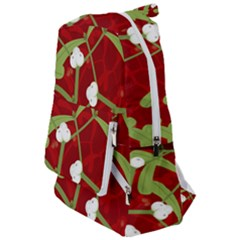 Mistletoe Christmas Texture Advent Travelers  Backpack