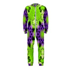 Pattern Abstract Background Art Green Onepiece Jumpsuit (kids)