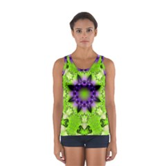 Pattern Abstract Background Art Green Sport Tank Top