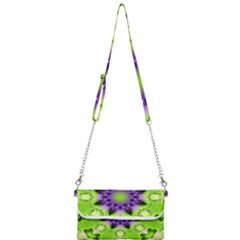 Pattern Abstract Background Art Green Mini Crossbody Handbag