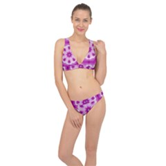 Pattern Abstract Background Art Purple Classic Banded Bikini Set