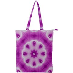 Pattern Abstract Background Art Purple Double Zip Up Tote Bag
