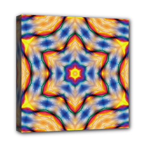Pattern Abstract Background Art Mini Canvas 8  X 8  (stretched)