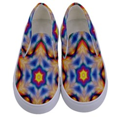 Pattern Abstract Background Art Kids  Canvas Slip Ons