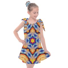 Pattern Abstract Background Art Kids  Tie Up Tunic Dress