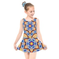 Pattern Abstract Background Art Kids  Skater Dress Swimsuit