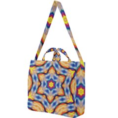 Pattern Abstract Background Art Square Shoulder Tote Bag by Pakrebo