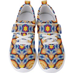 Pattern Abstract Background Art Men s Velcro Strap Shoes by Pakrebo