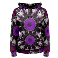 Kaleidoscope Round Circle Geometry Women s Pullover Hoodie