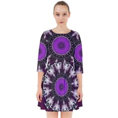 Kaleidoscope Round Circle Geometry Smock Dress