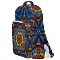 Pattern Abstract Background Art Double Compartment Backpack