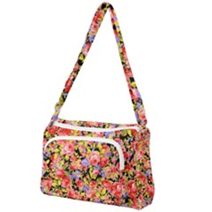 Colorful Flower Pattern Front Pocket Crossbody Bag by KORATstoreroom