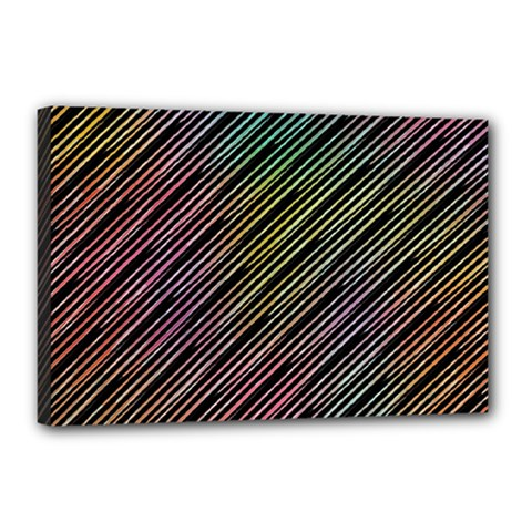 Pattern Abstract Desktop Fabric Canvas 18  X 12  (stretched)