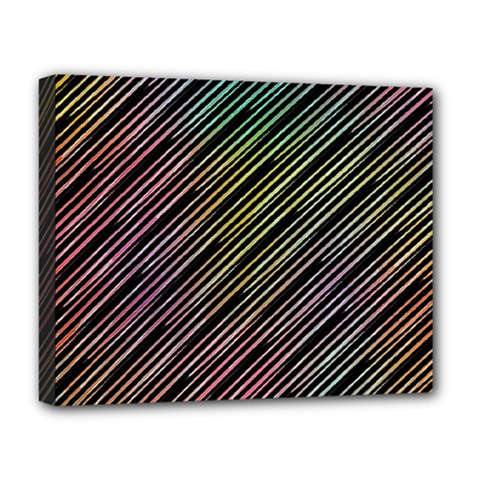 Pattern Abstract Desktop Fabric Deluxe Canvas 20  X 16  (stretched) by Pakrebo