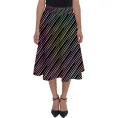 Pattern Abstract Desktop Fabric Perfect Length Midi Skirt