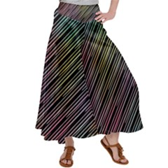 Pattern Abstract Desktop Fabric Satin Palazzo Pants by Pakrebo