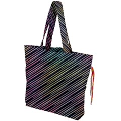 Pattern Abstract Desktop Fabric Drawstring Tote Bag