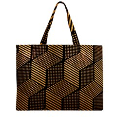 Cubes Light Geometry Shines Zipper Mini Tote Bag