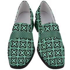 Default Texture Tissue Seamless Women s Chunky Heel Loafers