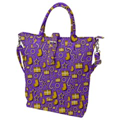 Paper Tissue Wrapping Buckle Top Tote Bag