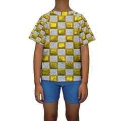 Pattern Desktop Square Wallpaper Kids  Short Sleeve Swimwear