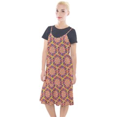 Pattern Decoration Abstract Flower Camis Fishtail Dress