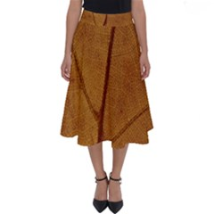 Leaf Fall Foliage Nature Orange Perfect Length Midi Skirt