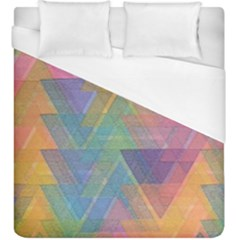 Triangle Pattern Mosaic Shape Duvet Cover (king Size) by Pakrebo