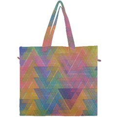 Triangle Pattern Mosaic Shape Canvas Travel Bag by Pakrebo