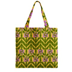 Texture Heather Nature Zipper Grocery Tote Bag